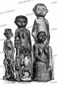 Idols of the Pahouins or Fang people, Gabon, M. Breton, 1885 | Photos and Images | Digital Art