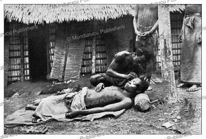 Tattooing of a Fang man, Gabon, Gu¨nter Tessmann, 1905 | Photos and Images | Digital Art