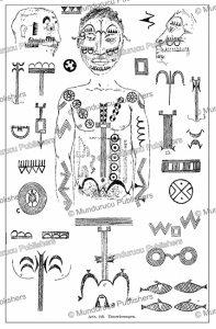 Fang tattoo and scarification designs, Gabon, Gu¨nter Tessmann, 1905 | Photos and Images | Digital Art