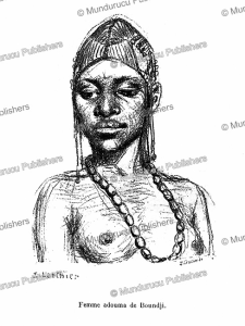 Adouma woman of Boundji, French Congo (Gabon), E. Laethier, 1888 | Photos and Images | Digital Art