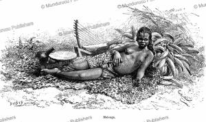 malonga, a young girl of the adouma or duma tribe, french congo (gabon), e´douard riou, 1887