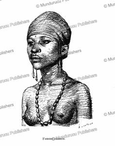 okanda woman, french congo (gabon), e. laethier, 1888