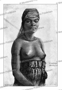 woman of the okanda tribe, french congo (gabon), e. laethier, 1888