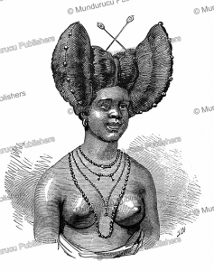 hairstyle of women of gabon, j.w., 1890