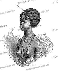 hairstyle of women of gabon, c.j., 1890