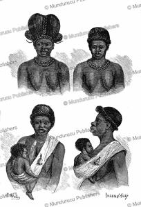 okanda women, gabon (french congo), m. breton, 1885
