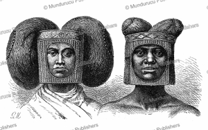 Hairstyle of the Lovale people of Zambia and Angola, Gustav Mu¨tzel, 1885 | Photos and Images | Digital Art