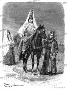 a kyrgyz (kirghiz) fiancee, emile bayard, 1879