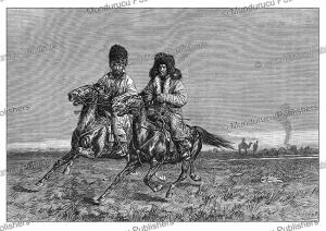 kyrgyz (kirghiz) cavalry, pranishnikoff, 1887