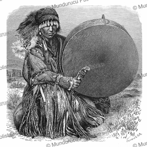 A Tartar with his drum, Central Asia, Gustav Mu¨tzel, 1885 | Photos and Images | Digital Art