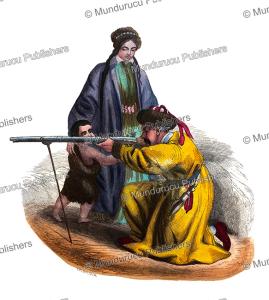 tartar family, cental asia, mercier, 1844
