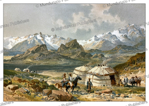 Eastern Pamir mountains, Central Asia, E.T. Compton, 1892 | Photos and Images | Digital Art