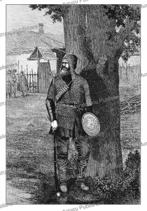 khevsur warrior of khevsureti in georgia, e. the´roud, 1886