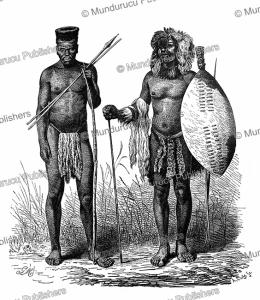 Zulu warriors, Gustav Mu¨tzel, 1885 | Photos and Images | Digital Art