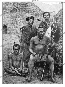 A Zulu family with weapons and tools, H. Thiriat, 1893 | Photos and Images | Digital Art