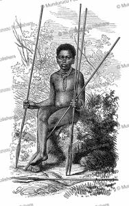 zulu boy with spear, gustav mu¨tzel, 1885