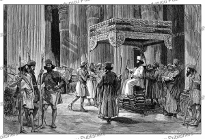 the return of the taxes in the palaces of darius, king of persia, tofani, 1884