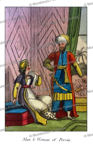 man and woman of persia, mary anne venning, 1817