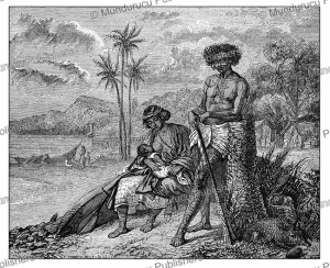 Tattooed man and wife of Tahiti, A. Colin, 1841 | Photos and Images | Digital Art