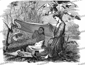 Young ladies from Tahiti, L'Illustration, 1848 | Photos and Images | Digital Art