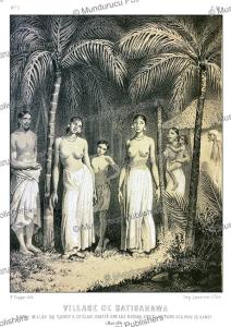 Village of Kadugannawa near Kandy, Ceylon (Sri Lanka), Alexis Soltykoff, 1851 | Photos and Images | Digital Art