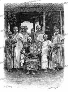 sinhalese buddhist priests, ceylon (sri lanka), achille sirouy, 1883