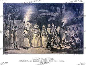 A ballet performance near Kandy, Ceylon (Sri Lanka), Alexis Soltykoff, 1851 | Photos and Images | Digital Art