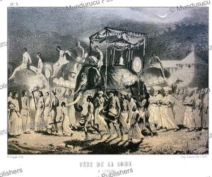 Moon festival in Ceylon (Sri Lanka), Alexis Soltykoff, 1851 | Photos and Images | Digital Art