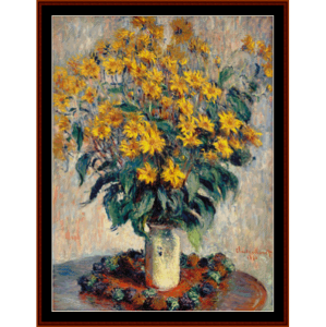 jerusalem artichoke flowsers - monet cross stitch pattern by cross stitch collectibles