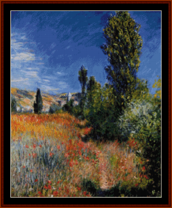 landscape on saint martin - monet cross stitch pattern by cross stitch collectibles