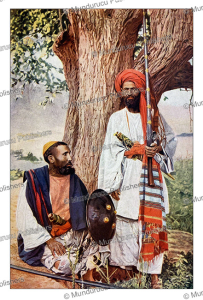 Afridi and Pathan warriors of northern India, J.A. Hammerton, 1895 | Photos and Images | Digital Art
