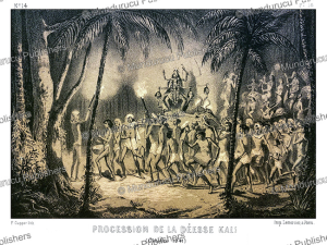 procession of the goddess kali, alexis soltykoff, 1851