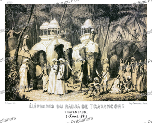 Elephants of the Raja of Travancore, Alexis Soltykoff, 1851 | Photos and Images | Digital Art