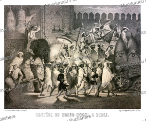Procession of the Great Mughal in Delhi, Alexis Soltykoff, 1851 | Photos and Images | Digital Art