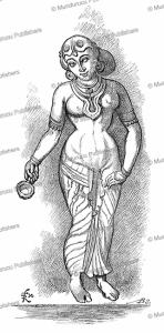 lakshmi (the goddess of good fortune) and wife of vishnu, f. re´gamey, 1885