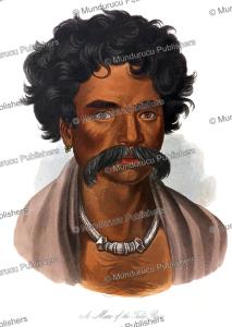 Beautiful man of the Tuda race (Toda), Tamil, James Cowles Prichard, 1845 | Photos and Images | Digital Art
