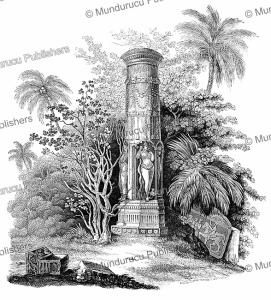 A column near the Baroli Temples of Rajasthan, India, Jules Garnier, 1871 | Photos and Images | Digital Art