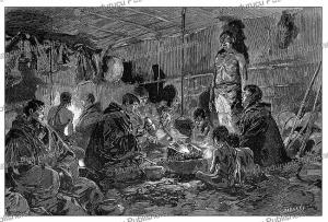 Inside a Chukchi home, Tofani, 1883 | Photos and Images | Digital Art