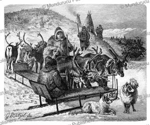 samoyeds hunting with reindeer sledges, gustav mu¨tzel, 1892.tif