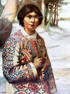 ostyak woman, j.h. hardy, 1910