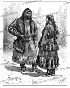 ostyak man and wife, pranishnikoff, 1887