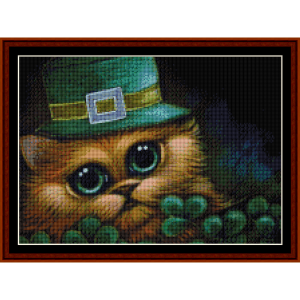 Feline Leprechaun (Small) cross stitch pattern by Cross Stitch Collectibles | Crafting | Cross-Stitch | Other