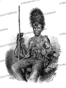 the sorcerer of the basotho tribe of southern africa, gustav mu¨tzel, 1891