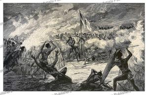 night attack on serpa pinto's camp in barotseland, serpa pinto, 1881