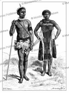 kaffir man and woman, achille sirouy, 1893