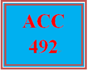 ACC 492 Wk 1 Quiz | eBooks | Education
