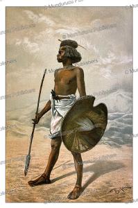 nubian warrior, sudan, bruno iglhein, 1885