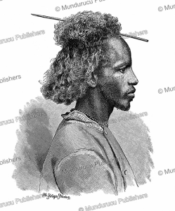 nubian man, sudan, kru¨ger stru¨ning, 1885