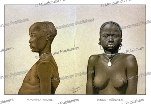 waganda boy and dinka girl of sudan, richard buchta, 1885