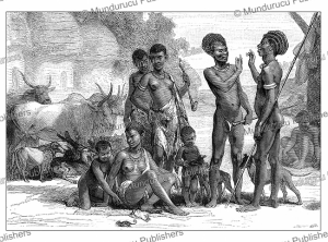 a shilluk family in southern sudan, georg schweinfurth, 1878